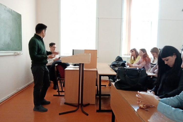 Встреча студентов Института экономики и управления с предпринимателем Робертом Балдановым